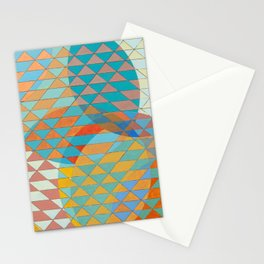 Triangle Pattern No. 11 Circles Stationery Cards