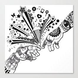 Creation of human Canvas Print