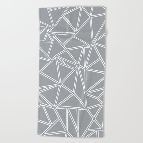 Ab Blocks Grey #2 Beach Towel