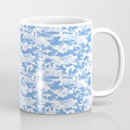 Military Camouflage Pattern - Blue White Coffee Mug