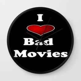 I (Love/Heart) Bad Movies print by Tex Watt Wall Clock