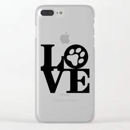 Love Pets Clear iPhone Case