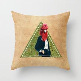 Coq head Throw Pillow