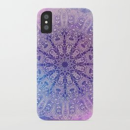 big paisley mandala in light purple iPhone Case