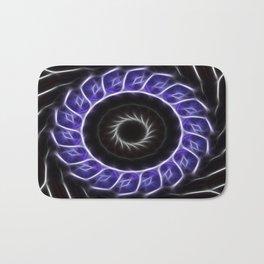 Blue Purple Black Kaleidoscope 4 Bath Mat