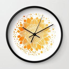 Sun Mandala Wall Clock