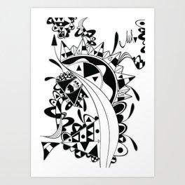 white Triangle Art Print