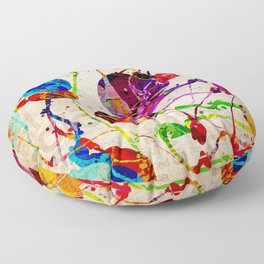 Abstract Expressionism 2 Floor Pillow