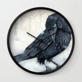 El ve a través del cuervo y controla la niebla Wall Clock