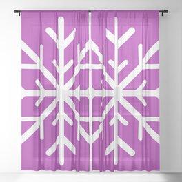 Snowflake (White & Purple) Sheer Curtain