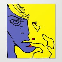 lip Canvas Prints featuring lip finger by Keith Cameron