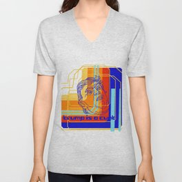 Trump is a cunt 80's digital  Unisex V-Neck