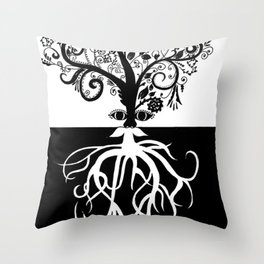 Tree Beard - Bethany Walrond Throw Pillow