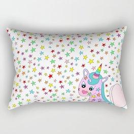 Rainbow the Unicorn Starstruck Rectangular Pillow