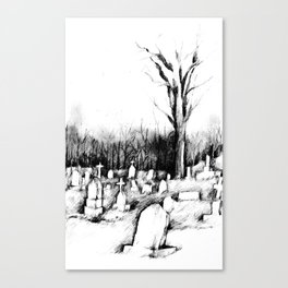 Waiting Graves Canvas Print