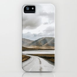 Iceland road trip with magical clouds and dramatic light iPhone Case
