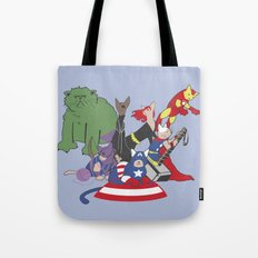 The Catvengers - Earth's Mightiest Kitties Tote Bag