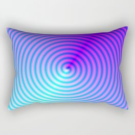 Coiled in Blue and Pink Rectangular Pillow