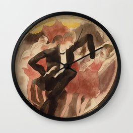 Charles Demuth - In Vaudeville.Dancer With Chorus Wall Clock