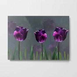 Purple Tulip Garden Metal Print