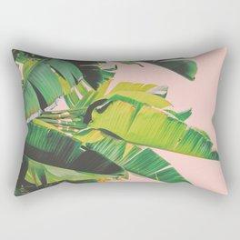 Banana Leaves III (Pink) Rectangular Pillow