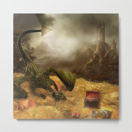 Dragon Treasure Metal Print