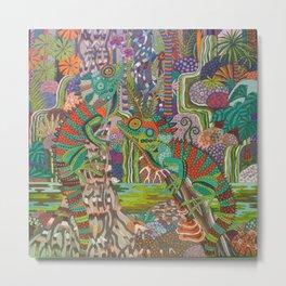 Rainforest Dragons Metal Print