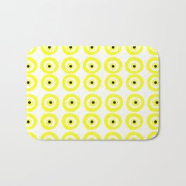 Summer Sunshine Evil Eye Lemon Yellow Bath Mat