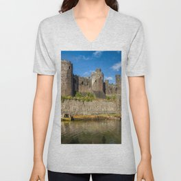 Conwy Castle Unisex V-Neck