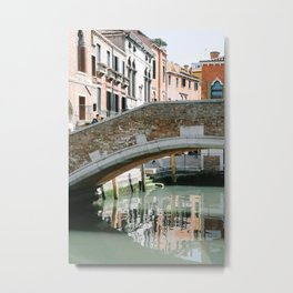Venice Bridge Metal Print