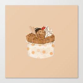 Rolled Ice Cream Canvas Print