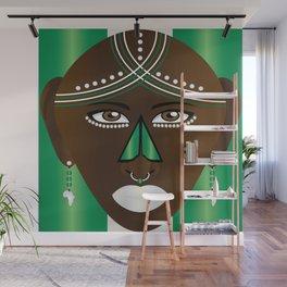 African Green and Silver Kijani Wall Mural