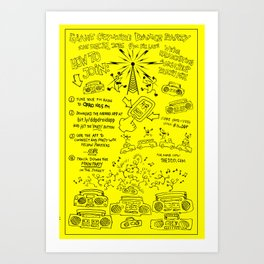 Vintage DDP Party Operations Poster Art Print