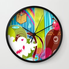 The Great Pineapple Race Wall Clock