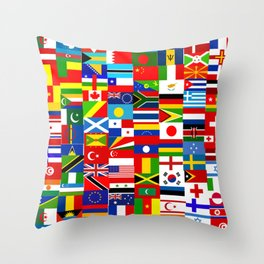 Flag Montage Throw Pillow