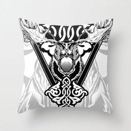 Animal Series - Meuse White Series Throw Pillow