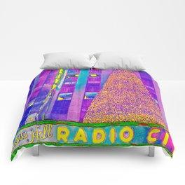 Radio City Music Hall with Holiday Tree, New York City, New York Comforters
