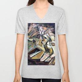 Marcel Duchamp Nude Descending a Staircase Unisex V-Neck