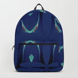 Arch Echoes on Blue Backpack