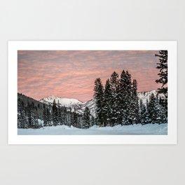 Big Cottonwood Sunrise Art Print