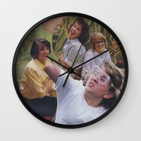 sisters Wall Clocks featuring Sisters by Jon Duci