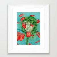 blossom Framed Art Prints featuring Blossom by Nikoby