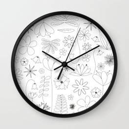 Miscellaneous flowers Wall Clock