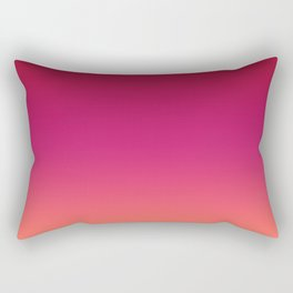 Living Coral Pink Peacock Red Ombre Gradient Pattern Trendy Colors of Year 2019 Rectangular Pillow