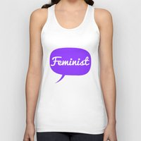 feminist Tank Tops featuring Feminist by LittleKnits