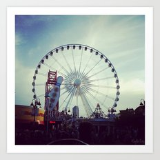 Niagara Skywheel Art Print