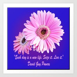 Seize the Day with Bright Joy Art Print
