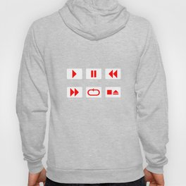 Music Player Button Hoody