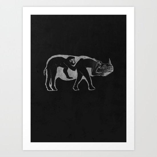 undercover agent Art Print