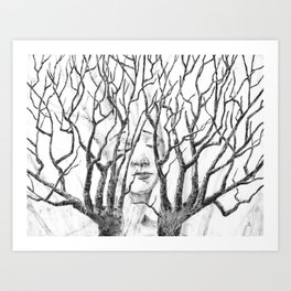 Branching Hands Art Print